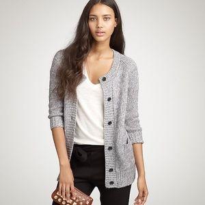 J. Crew Long Capanna Wool Mohair Grey Knit Sweater